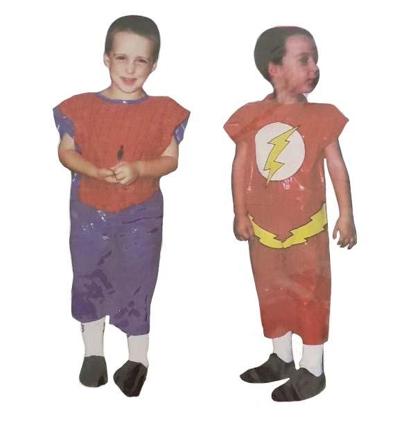 Disfraz De Plastico Infantil Superheroe