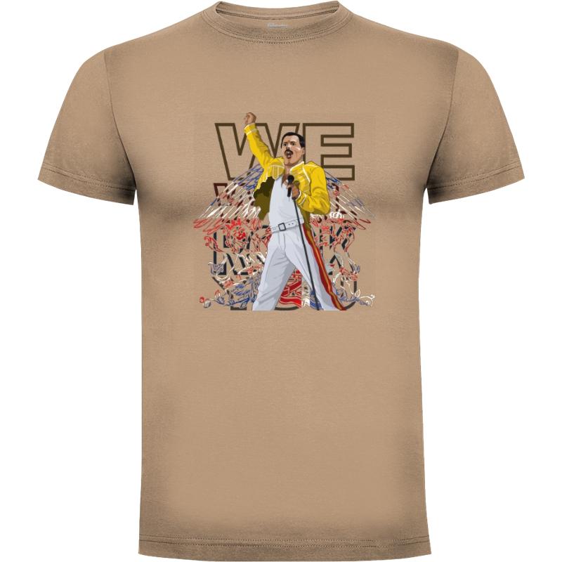 Camiseta We will rock you (por Gualda Trazos)