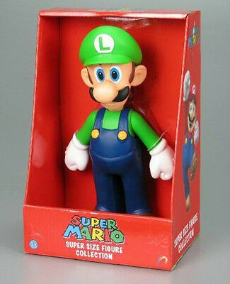 Super Mario Bros - Figura Luigi Super Size Collection 23cm