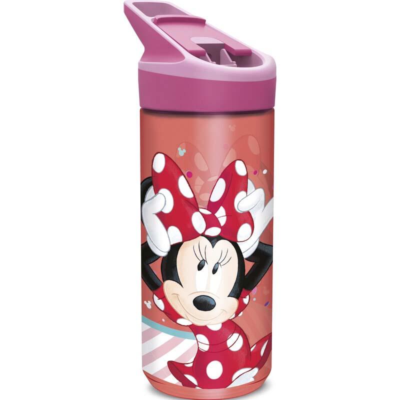Botella Tritan Grande Minnie Mouse Lunares Rojos