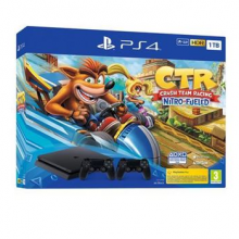 C Ps4 Slim 1Tb + Crash Team Racing + 2 Dualshock
