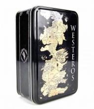 Juego de Tronos Caja Metalica Mapa Westeros