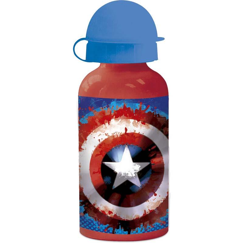 Botella De Aluminio Infantil Capitan America