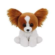 Peluche Ty Beanies perro marrón barks, 15 cm