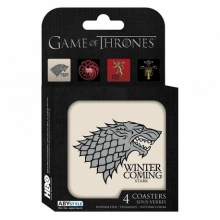 Juego de 4 posavasos Game of Thrones(Casas)