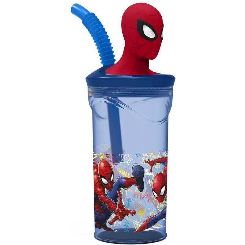 Vaso 3D Spiderman Marvel Azul