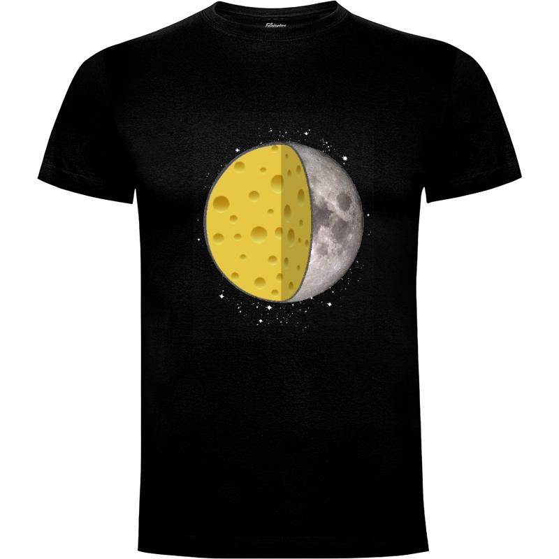 Camiseta A cheesy moon.