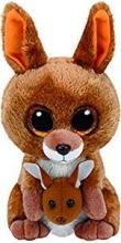 Peluche Ty Beanies canguro Boos Kipper, 15 cm, color marrón