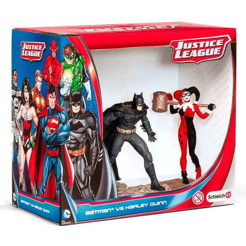 Figuras Batman Vs Harley Quinn Liga De La Justicia Dc Comics