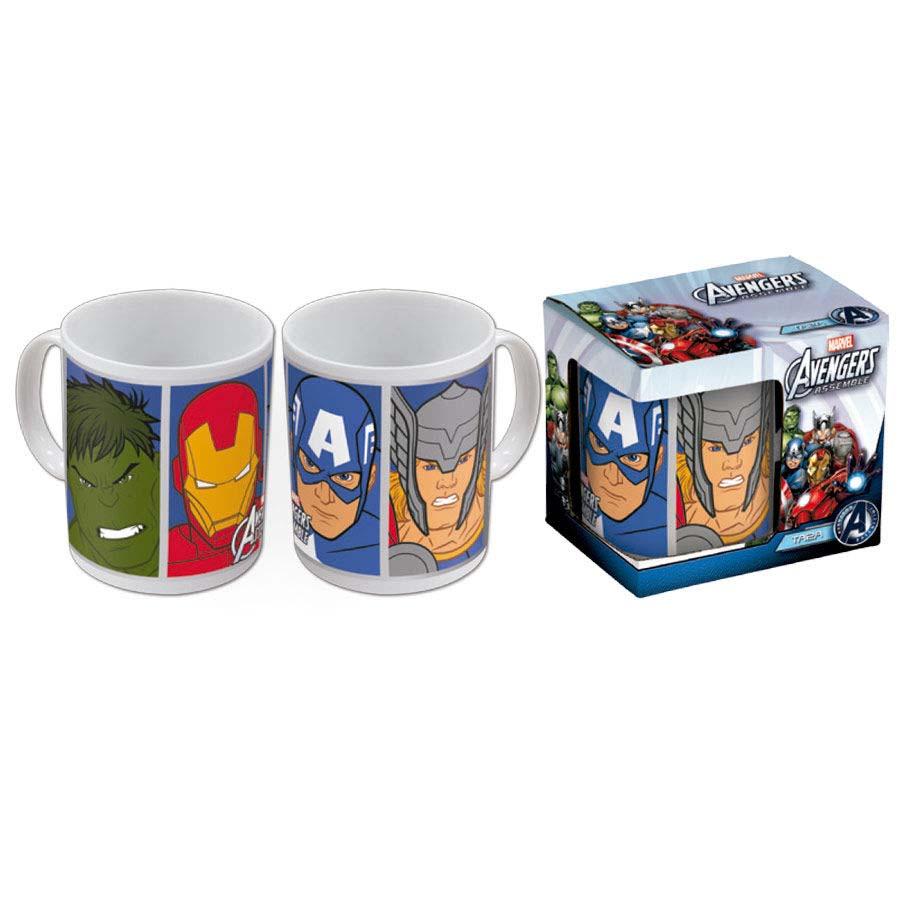 Taza Vengadores Avengers Faces Serie Animada