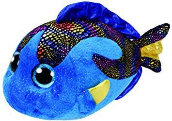 Peluche Ty Beanie Pez Azul Aqua Beanie Boos