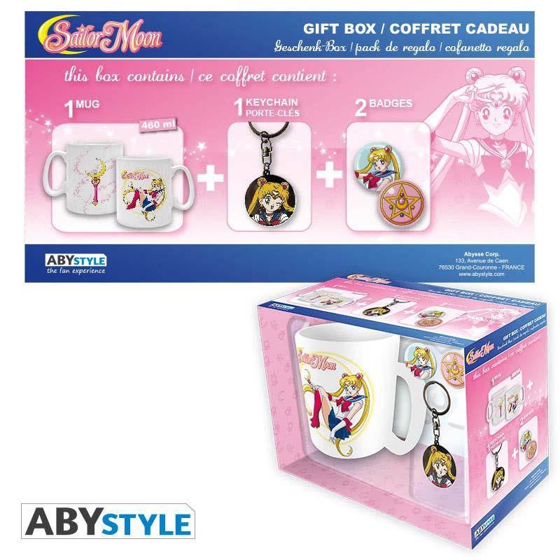 Pack Sailor Moon Taza + Llavero + Chapa