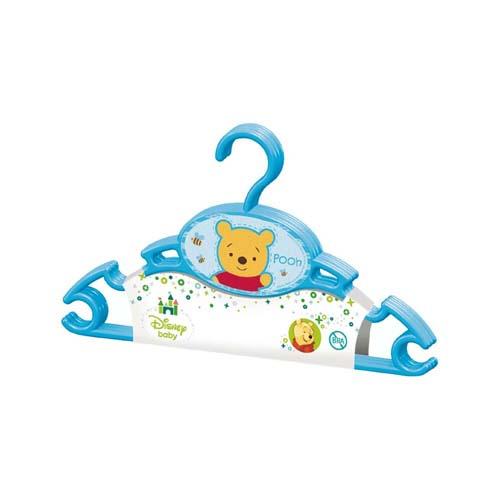 3 Perchas Azul Winnie Baby