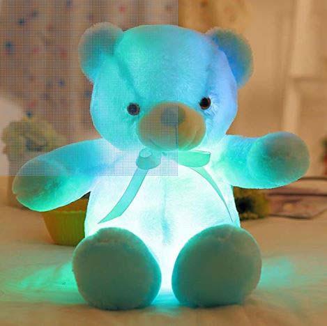 Peluche Oso Azul Con Luz Led
