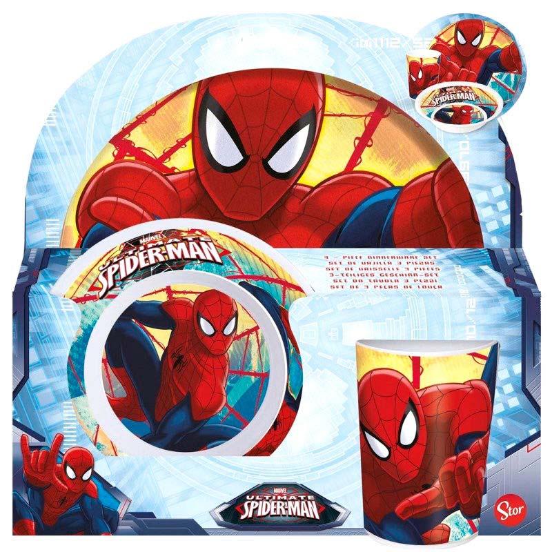 Pack Vajilla 3 Pcs. Spiderman