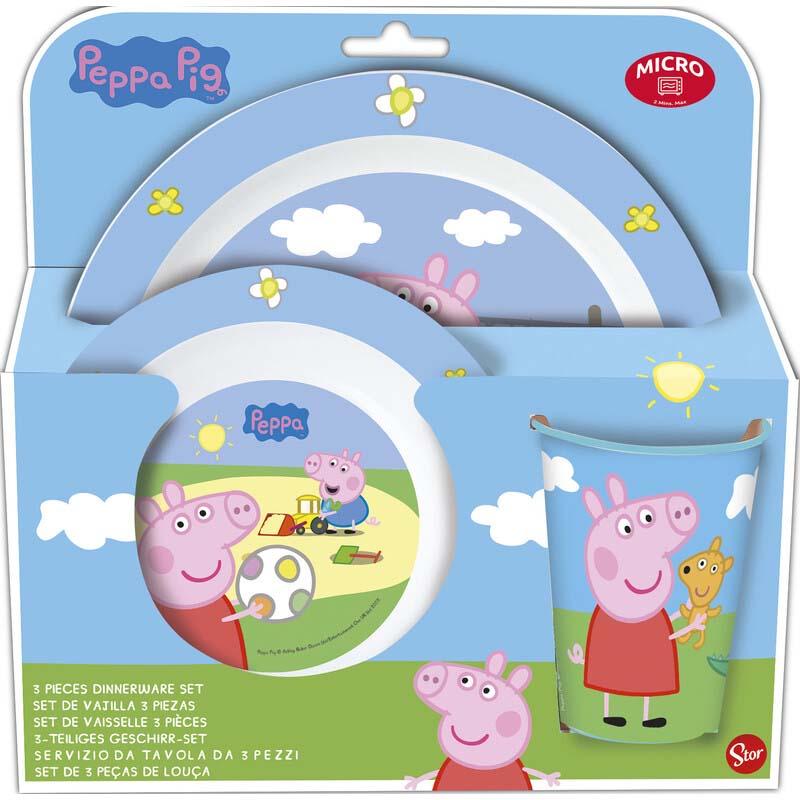 Pack Vajilla Microondas 3 Pcs. Peppa Pig
