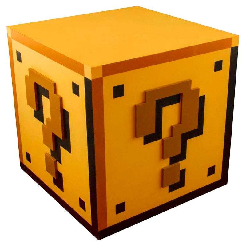 Lampara Question Block Mario Bros Nintendo Grande