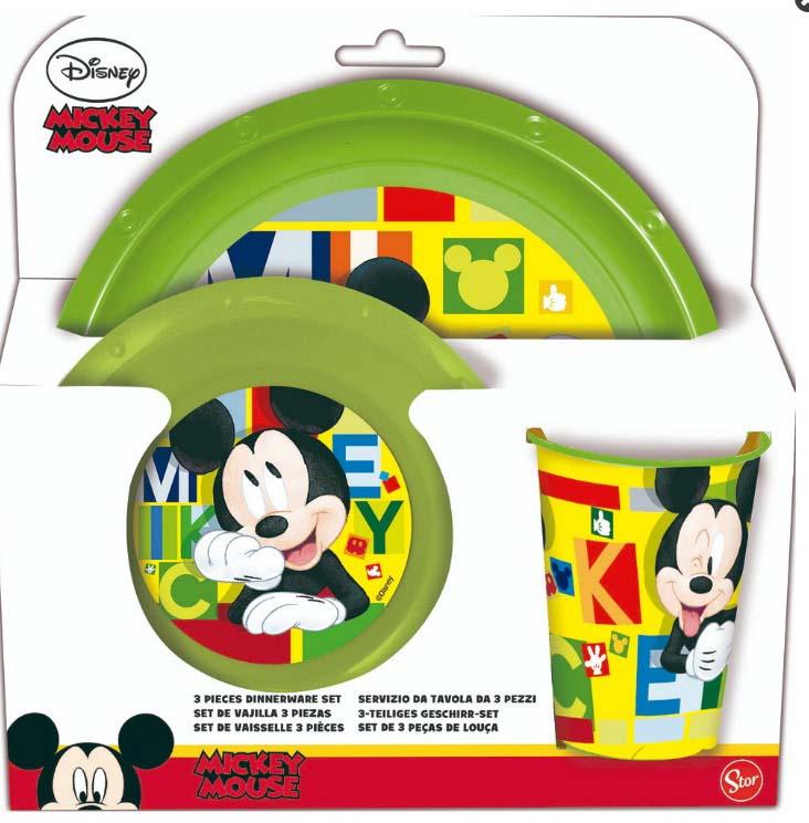 Pack Vajilla 3 Pcs Mickey Mouse