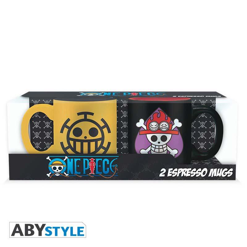 Pack Tazas One Piece Negra Y Amarilla