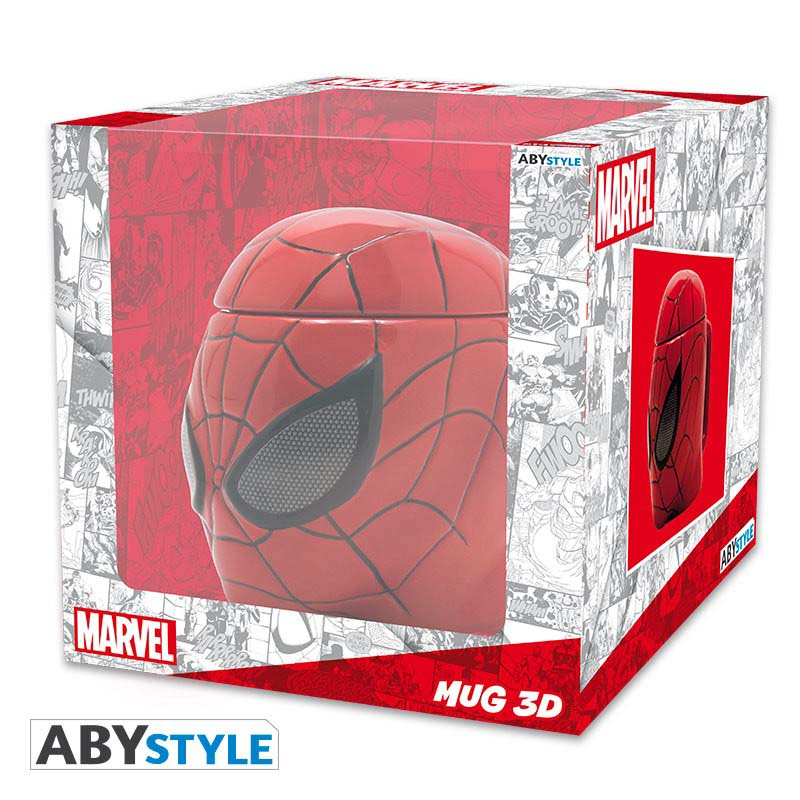 Taza Spiderman 3D Grande Con Tapa