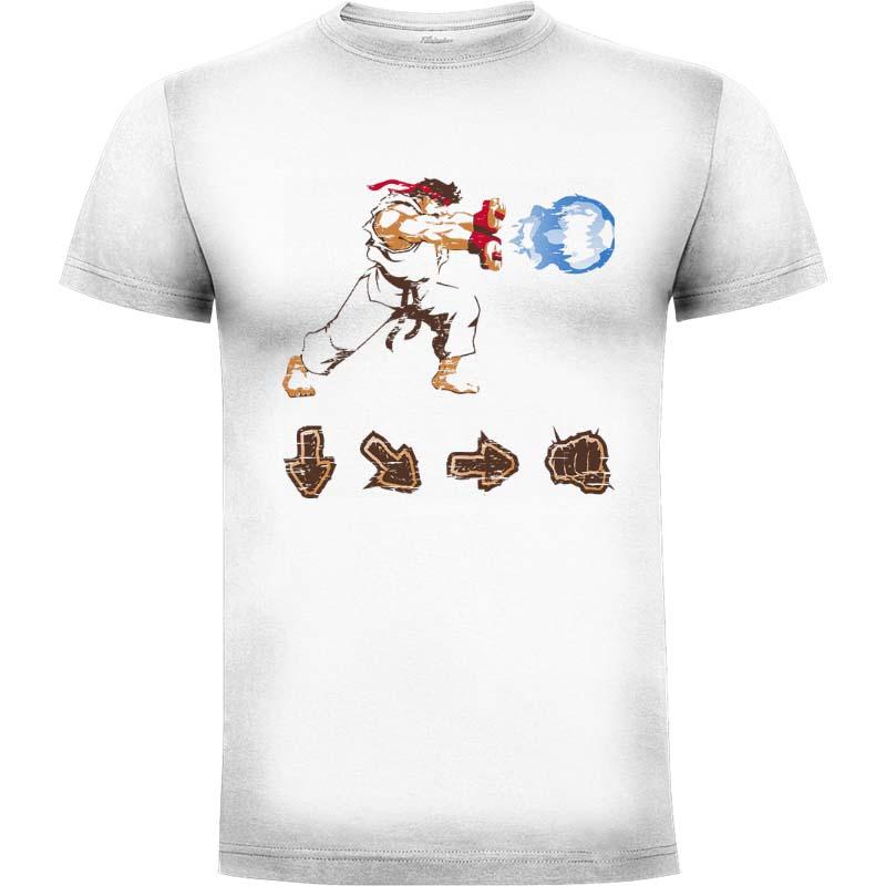 Camiseta Street Fighter Ryu Hadouken Talla M