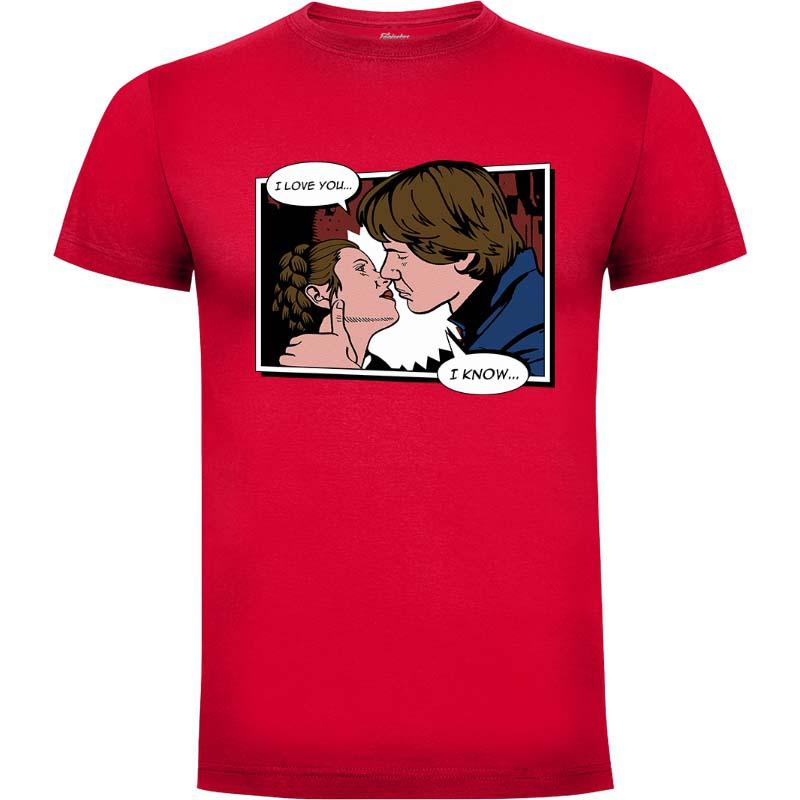 Camiseta Star Wars Han Y Leia Talla M