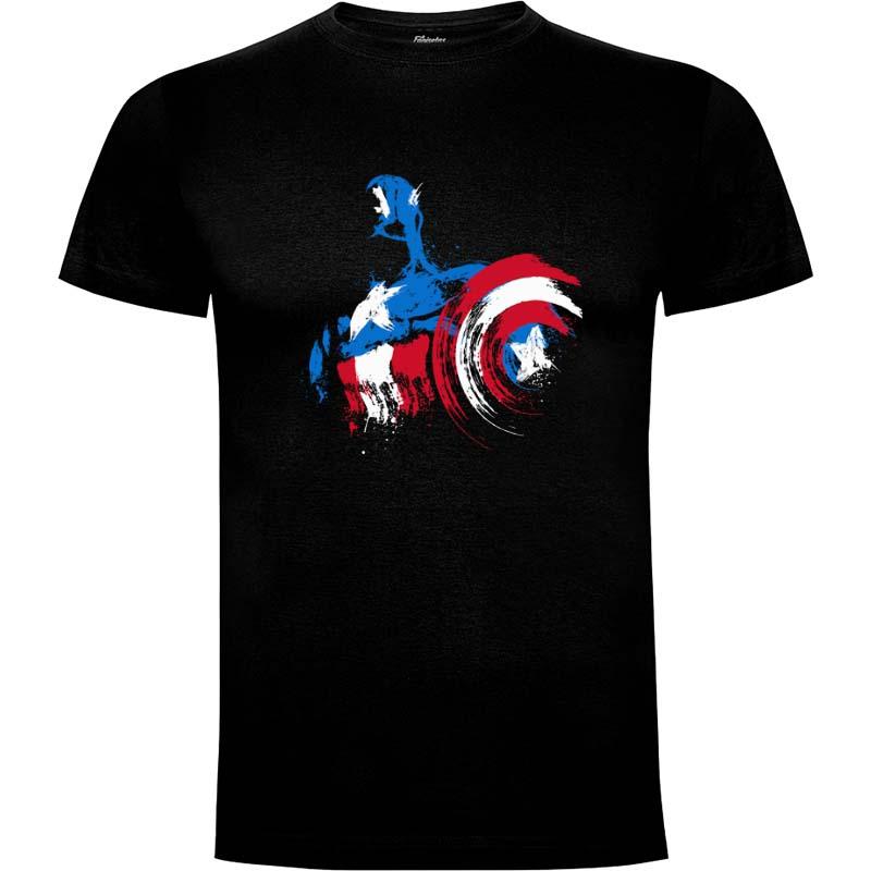 Camiseta Capitan America The Captain Is Coming Talla M