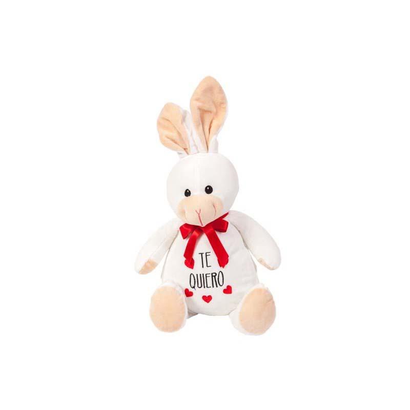 Conejo Blanco Bordado Te Quiero 32Cm