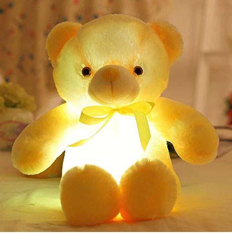 Peluche Oso Amarillo Con Luz Led