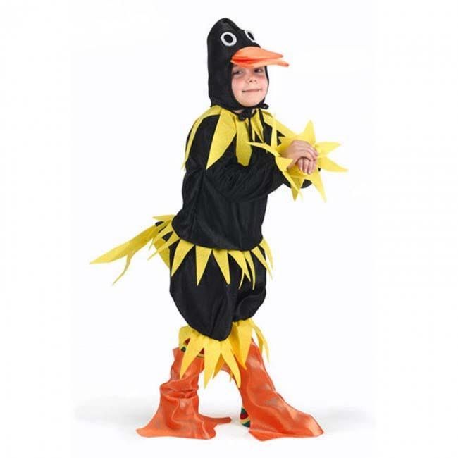 Disfraz De Pato Negro 3 - 4 Años Niño