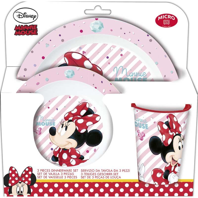 Pack Vajilla Microondas 3 Pcs. Minnie Mouse