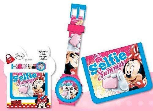 Pack Reloj Digital Billetera Minnie Mouse