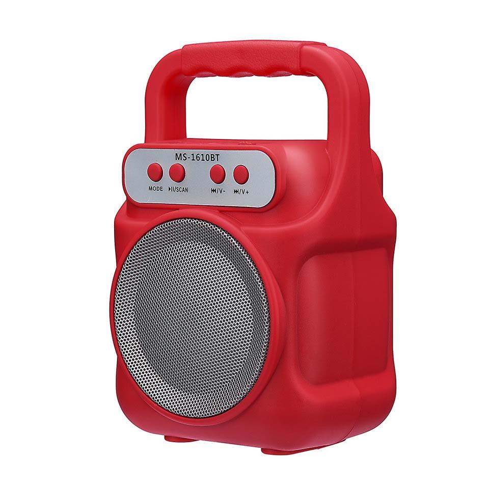 Altavoz Bluetooth Ms-1609Bt Rojo