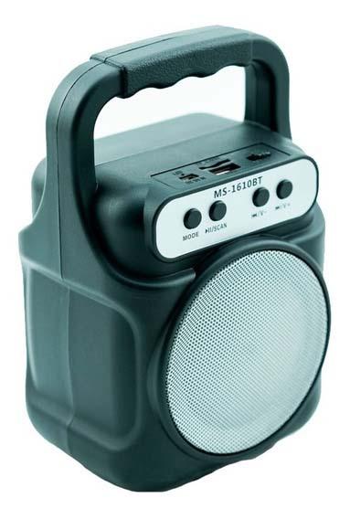 Altavoz Bluetooth Ms-1609Bt Negro
