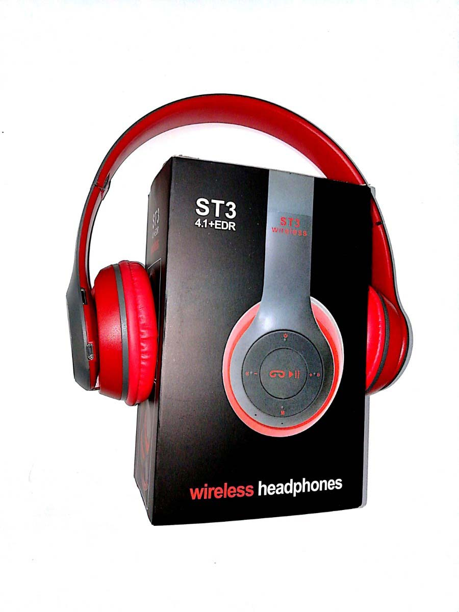 Auriculares Bluetooth St3 Negro Rojo