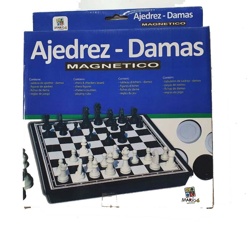 Juego De Ajedrez Y Damas Magnetico