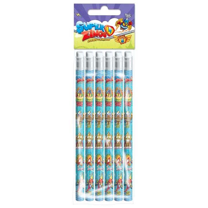 Blister 6 Lapices Super Zings