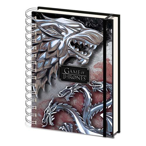 Cuadernos A5 Espiral Stark & Targaryen
