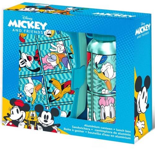 Pack Sandwichera Y Botella Mickey Amigos Disney