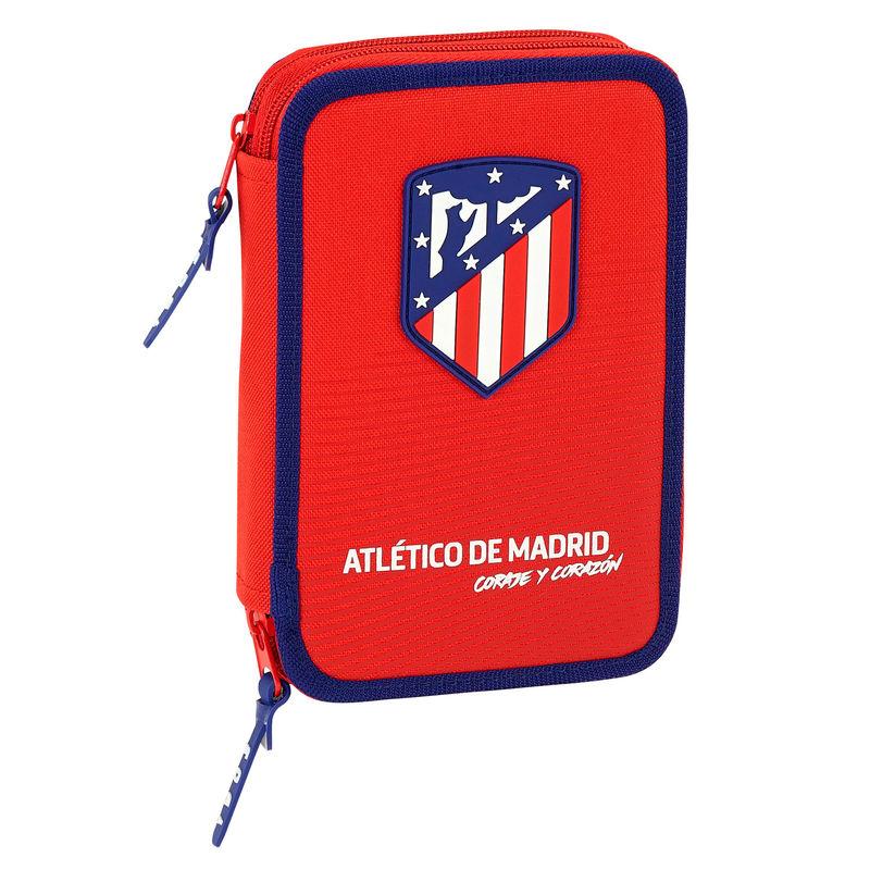 Plumier Atletico Madrid Coraje doble 34pcs