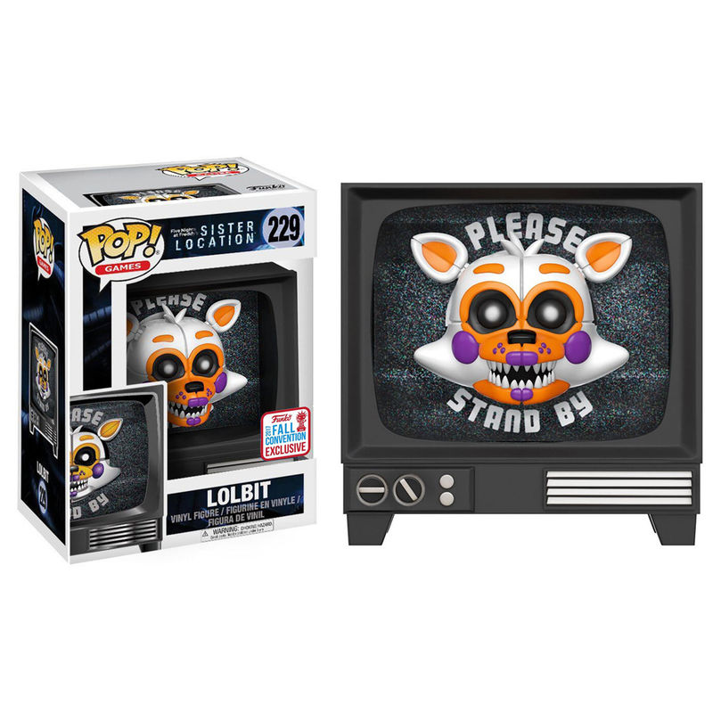 *Figura POP Five Nights at Freddys Sister Location Lolbit Fall Convention 2017 Exclusive*