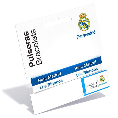 Pulsera embossed Real Madrid azul blanco