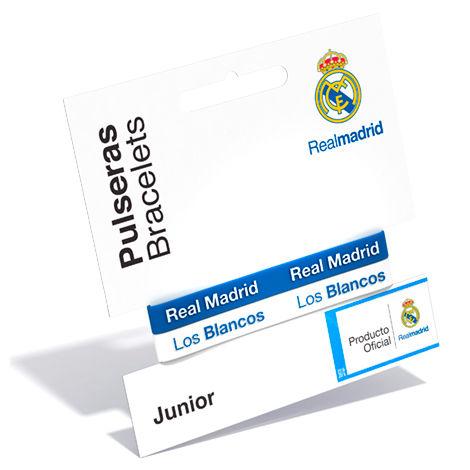 Pulsera embossed Real Madrid azul blanco junior