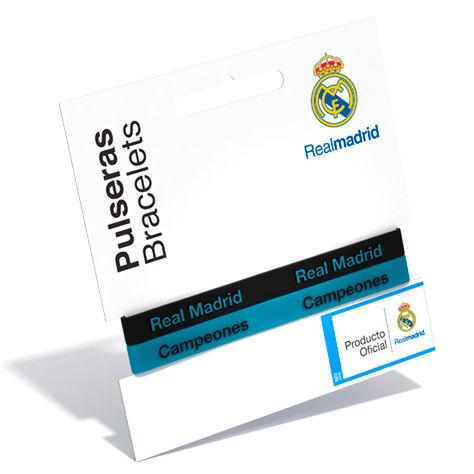 Pulsera embossed Real Madrid turquesa
