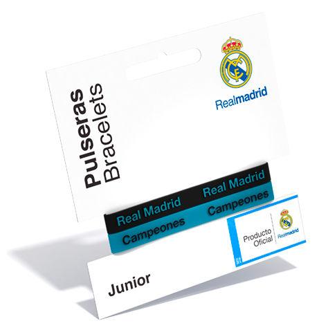 Pulsera embossed Real Madrid turquesa junior