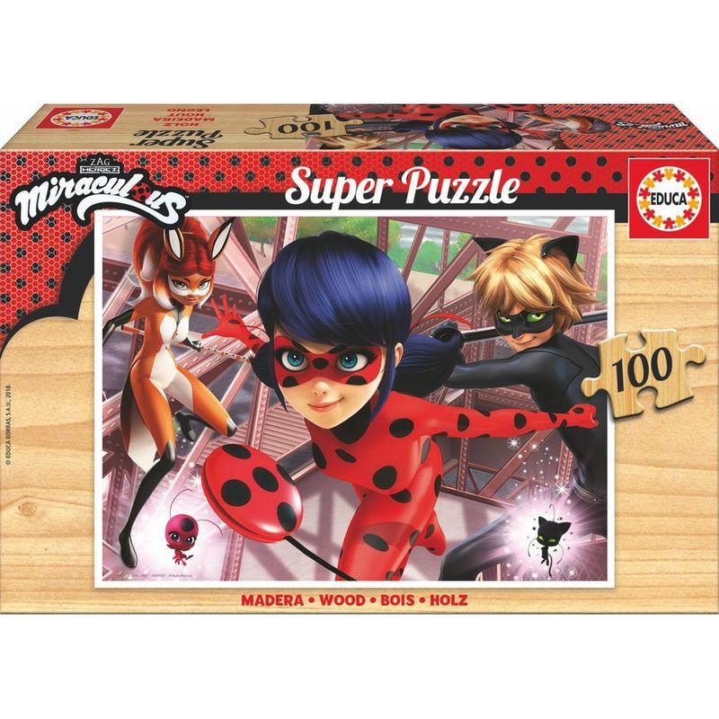 Puzzle Prodigiosa Ladybug madera 100pz
