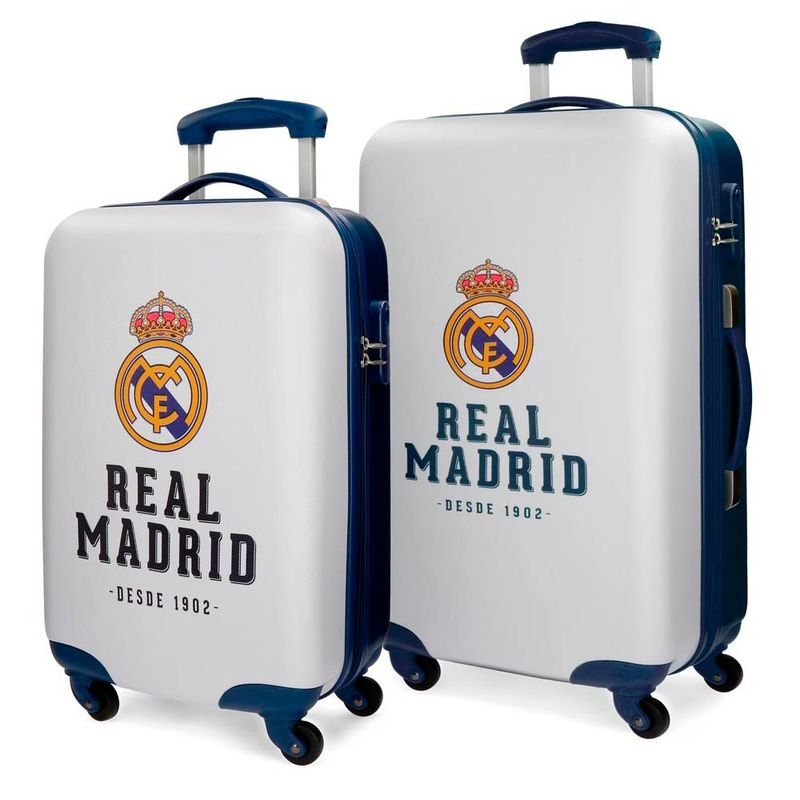Set 2 maletas Real Madrid ABS 4r 55/67cm