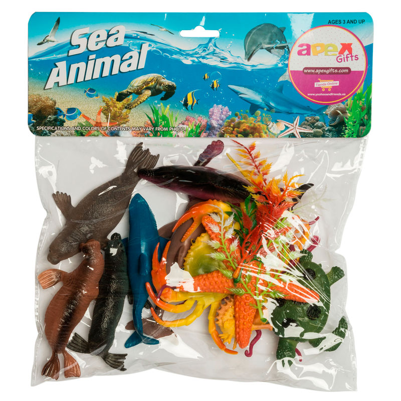 Set Animales Marinos surtido 28pzs