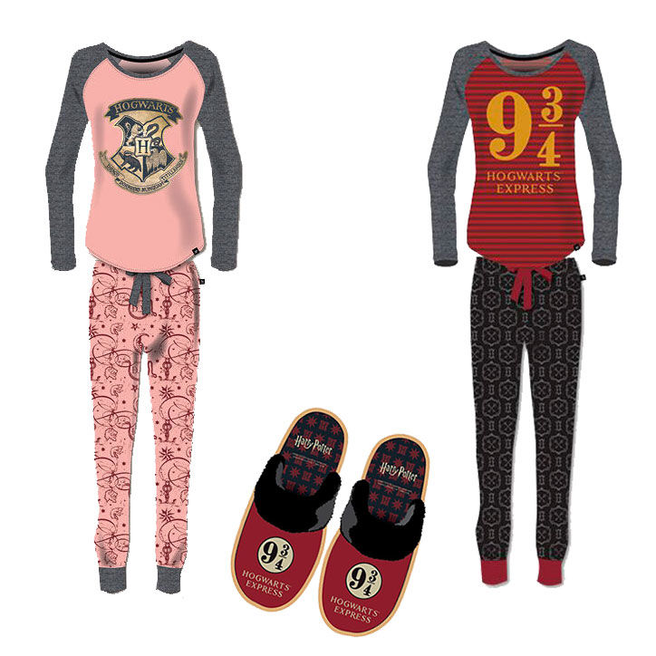 Pack Harry Potter 6 pijamas adulto + 6 pantuflas gratis