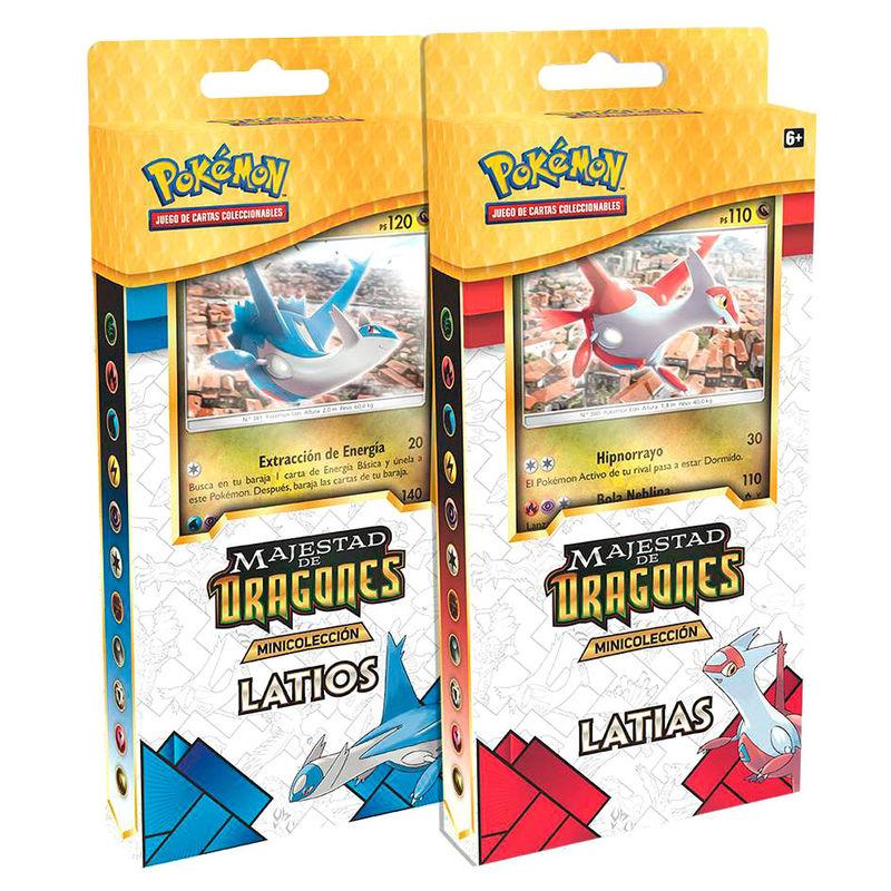 Minicolección Latias Latios Majestad de Dragones Pokemon
